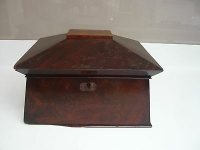 Antique Sarcophagus Tea Caddy Box in Need of Restoration
