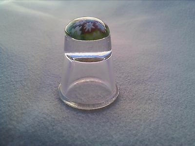 Thimble, Caithness Millefiori Clear Glass