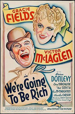WE'RE GOING TO BE RICH original film / movie poster - Gracie Fields