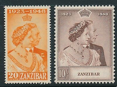Zanzibar Royal Silver Wedding 1949 SG 333-4 MNH