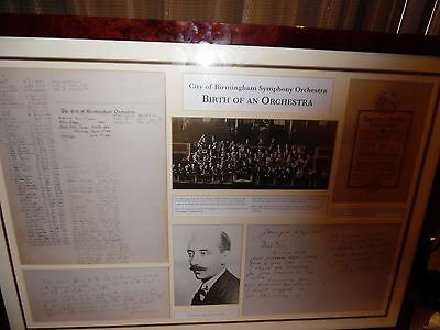 birmingham symphony orchestra limited edition poster birth of an orchestra