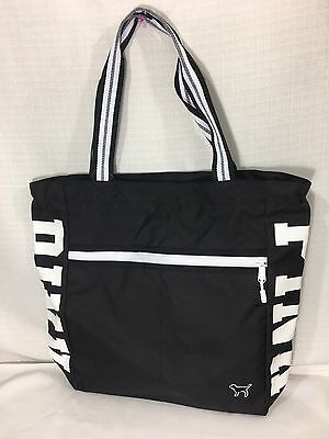 NWT Victoria's Secret ~pink~ Black Tote Gym Graphic Bag