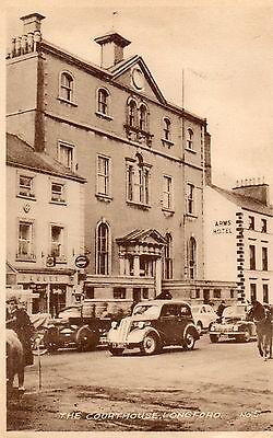 THE COURT HOUSE LONGFORD IRELAND IRISH POSTCARD by WOODS LONGFORD POSTED in 1955
