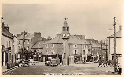 THE TOWN CLOCK WESTPORT CO. MAYO IRELAND RP IRISH POSTCARD by CARDALL LTD