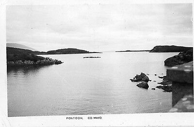 PONTOON CO. MAYO IRELAND RP POSTCARD by PADRAIG KENNELLY of TRALEE POSTED 1964