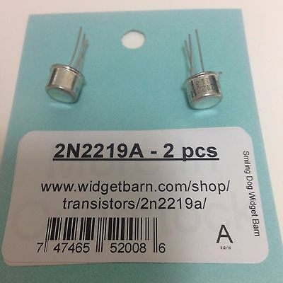 2N2219A NPN Silicon Transistor - NEW OLD STOCK - TO-39 case - 2 pcs/lot