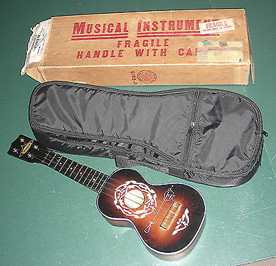 Ukulele by Harmony / Silvertone Sears = vintage 1950s with old box & new strings