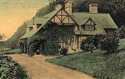 CARRIGANE FISHING LODGE BALLYDUFF CO. WATERFORD IRELAND POSTCARD POSTED in 1911