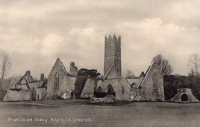 FRANCISCAN ABBEY ADARE CO. LIMERICK IRELAND POSTCARD by L. McCARTHY of ADARE
