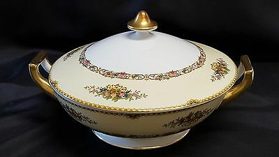 """Meito China """"The Malta""""  Covered Serving Dish Bowl 10 1/2"""" Hand Painted - Japan"""