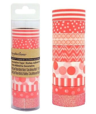 RECOLLECTIONS - CORAL - Craft It Washi Decrotave Tape 402792