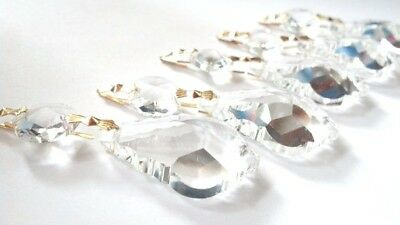 10 Clear Asfour 38mm French Cut Chandelier Crystals Prisms Lamp Parts