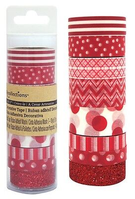 RECOLLECTIONS - RED - Craft It Washi Decrotave Tape 402803