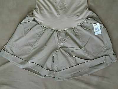 Oh Baby Motherhood Maternity Shorts Size 3X Cuff Tan Secret Fit Belly NWT