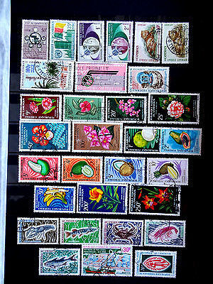 Small used stamps collection of Cameroon as scan.