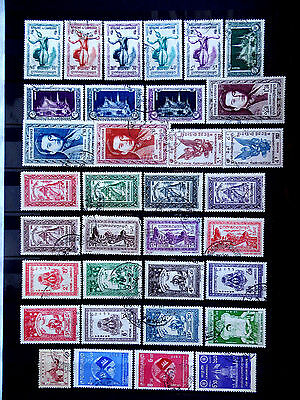 Small used stamps collection of Cambodia as scan.