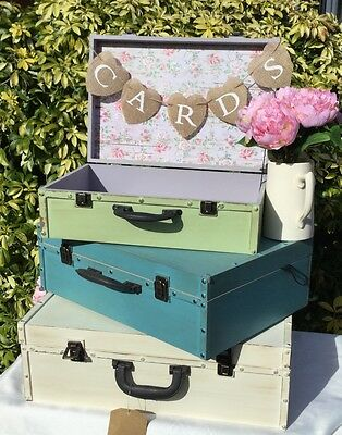 Vintage style wedding suitcases FOR HIRE, cards, wishing well, post box SURREY