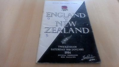 1954  England V  New Zealand  Rugby Football Union Programme