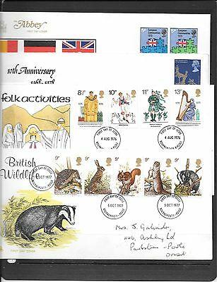Gb Decimal Fdcs 1976/73/77 Mixed Condition * See Details C479