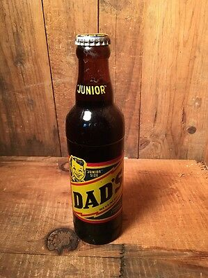 New Old Stock Dads Rootbeer Bottle Unopened 7 Ounce Jr