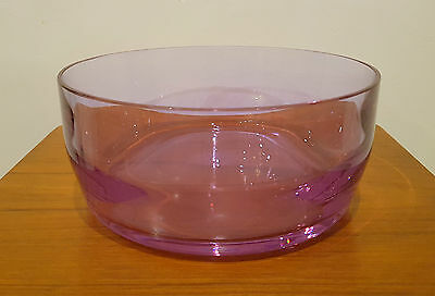 Vintage Caithness Glass Amethyst/Heather Fruit Bowl by Domhnall O'Broin