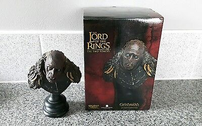 Sideshow Lord Of The Rings Grishnakh 1/4 Scale Polystone Bust - Weta - GC