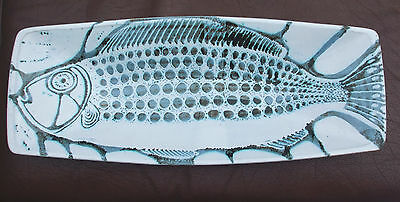 Vintage Peter Lane ceramic dish modern art pottery fish dish plate signed