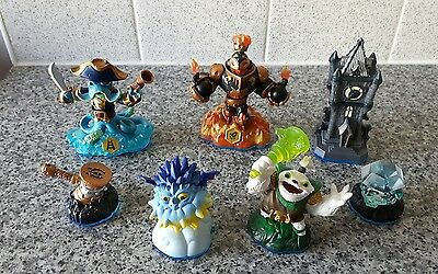 Skylanders Swap Force 7 Figure Bundle inc,Tower,Diamond,Pop Thorn,Zoo Lou,Hammer