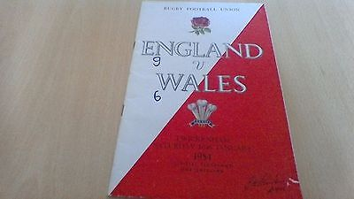 1954  England V  Wales  Rugby Football Union Programme
