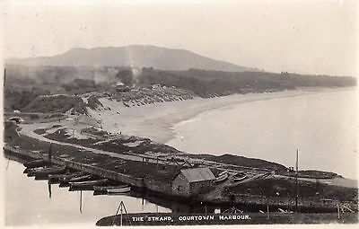 The Strand Courtown Harbour Wexford Ireland Rp Signal Postcard Posted June 1939