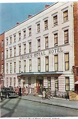 "CRUISE'S ROYAL HOTEL LIMERICK IRELAND ""P.C."" POSTCARD No. 40  PRINTED by BAILEY"