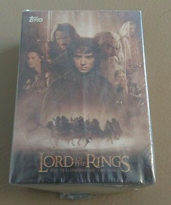 Lord of the rings fellowship of the ring trading cards base set topps
