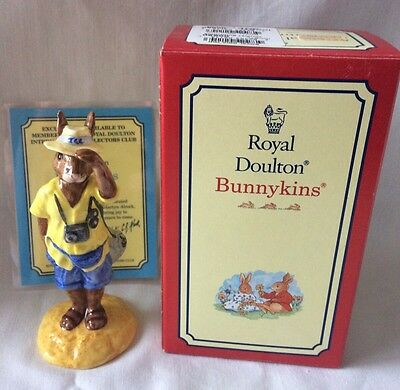 Royal Doulton Bunnykins Tourist Bunnykins DB190 With Box And Certificate