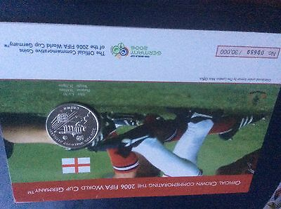 Isle Of Man 2006 Fifa Germany World Cup Commemorative Crown (Coin) London Mint