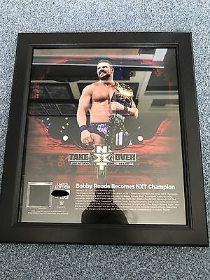 WWE plaque Bobby Roode Nxt Championship Rare Number 18 Of 199