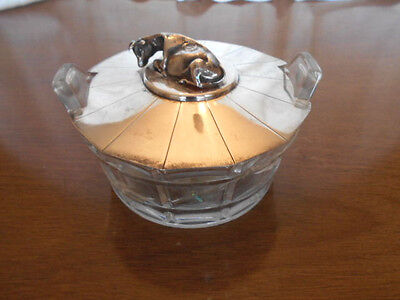Henry Wilkinson Sterling Silver Lid Cow Finial Crystal Butter Bucket Bowl 1870