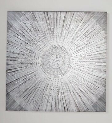 NEXT Silver Embellished Canvas/Abstract Wall Art,Hanging Picture, 60x60cm NEW