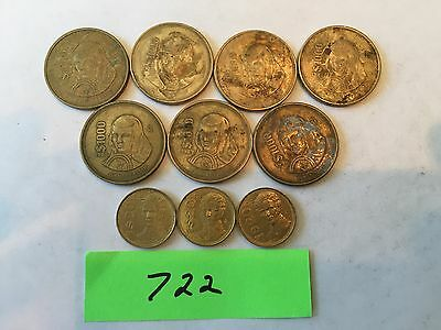 Mexico coin 20 and 1000 peso foreign coin lot 722