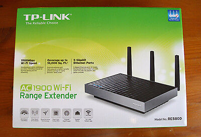 TP-Link AC1900 RE580D Dual Band 5GHz Wi-Fi Range Extender Booster - Brand New