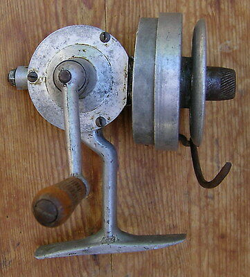 Moulinet Peche Ancien Aluminium Vintage Old Fishing Reel
