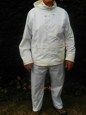 Unisex Waterproof Lawn Bowls Jacket And Trousers - Taylor - Large - White
