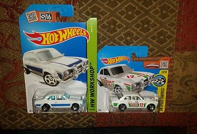 Hot Wheels 2016 '70 Ford Escort RS1600 Lot of 2 Very Rare.