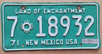 "1971 1974 New Mexico Truck License Plate "" 7 18932 "" Nm Dona Ana County"