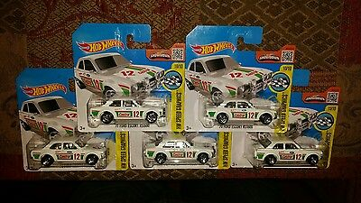 Hot Wheels 2016 '70 Ford Escort RS1600 Lot of 5 Very Rare.