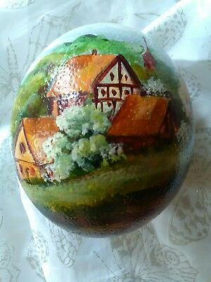 Ostrich Egg Hand Painted No Stand