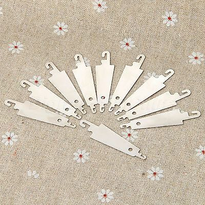 10pcs 5cm Steel Hook Needle Threader Cross Stitching Hand Sewing Embroidery Tool