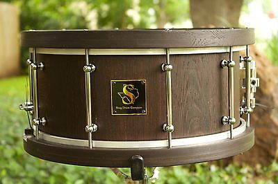 SDC 6.5x14 Wenge Stave Snare Drum With Matching Segmented Hoops