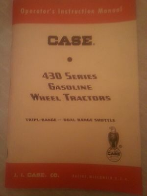 Original Case 430 Tractor Operator's Instruction Manual Excellent