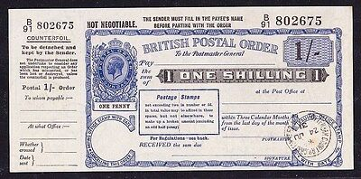 GREAT BRITAIN 1931 KGV 1/- Postal Order superb UNC !