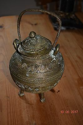 ANTIQUE  NORTH AFRICAN BRONZE BOWL HAND CAST    c1800